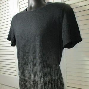 Vince Shirts - Vince Black & Gray Herringbone T-Shirt Men's M